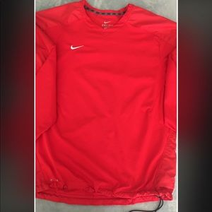 Red Nike Dri Fit V-neck Pull Over Size M
